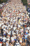 Crowd of Runners in Marathon from Above, Washington, D.C. Photographic Print