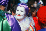 Harlequin at Mardi Gras Festival, New Orleans Photographic Print