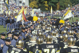 Parade of College Football Players Flanked by West Point Cadets, West Point NY Photographic Print