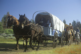 Living History Participants in Wagon Train Near Sacramento, CA Photographic Print