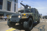 Armed Jeep, United States Army Parade, Chicago, Illinois Photographic Print