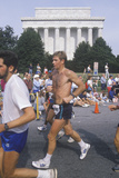 Close-Up of Runner in Front of Lincoln Memorial, Washington, D.C. Photographic Print