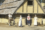 Participants in Period Costume in Historic Jamestown, Virginia, Site of First English Settlement Photographic Print