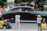 Classic Car in Independence Day Parade Photographic Print