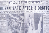 St Louis Post-Dispatch Newspaper Displays John Glenn's Historic Space Flight, February 20, 1962 Photographic Print