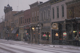 Main Street of Deadwood, Sd in Snow Photographic Print