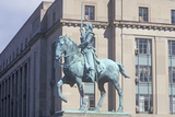 Bronze Statue of General George Washington on Horseback Photographic Print