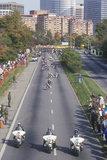 Motorcycle Policemen at Beginning of Marathon, Washington, D.C. Photographic Print