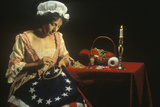 Living History Reenactment of Betsy Ross Making of First American Flag, Philadelphia, Pennsylvania Photographic Print