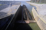 Barge on the Kentucky Dam Canal Lock on the Tennessee River, Tn Photographic Print