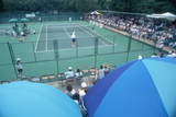 Tennis Serve, Annual Ojai Amateur Tennis Tournament, Ojai, CA Photographic Print