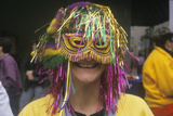 Woman Wearing Mardi Gras Mask, New Orleans, Louisiana Photographic Print