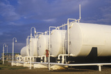 Diamond Shamrock Oil Tanks at Turpin, Ok Photographic Print