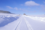 The Last Dollar Road in Snow in the San Juan Mountains, Colorado Photographic Print