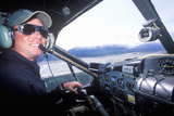 A Bush Pilot in a Scout Plane in Alaska Photographic Print