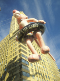 Pink Panther Balloon in Macy's Thanksgiving Day Parade, New York City, New York Photographic Print