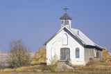 Abandoned Prairie Church Near Badlands South Dakota Photographic Print