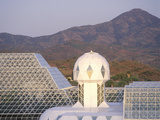Rainforest and Living Quarters of Biosphere 2 at Oracle in Tucson, AZ Photographic Print