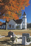 A Church in Autumn in Mathews Virginia Photographic Print