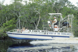 A Jet Boat Tours the Everglades in the Everglades National Park, Florida Photographic Print