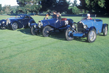 Three Blue Bugatti CArs at the 35th Annual Concours D' Elegance Competition in CArmel, CA Photographic Print