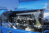 An Engine of a Blue Bugatti at the 35th Annual Concours D' Elegance Competition in CArmel, CA Photographic Print