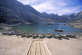 Fishing Boats on Crowley Lake West of Bishop, California Photographic Print