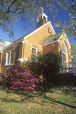 A Spring Day at the Brick Church in Southport North Carolina Photographic Print