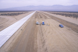 New Highway Construction in the Mojave Near Lancaster, California Photographic Print