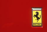 A Ferrari Logo at the Ferrari Sports Car Festival in Beverly Hills, California Photographic Print