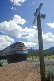 An Amtrak Train at a Railroad Crossing, Santa Fe, New Mexico Photographic Print