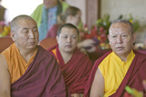 Tibetan Monks Seated for Amitabha Empowerment Buddhist Ceremony at Meditation Mount in Ojai, CA Photographic Print