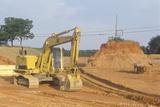 Earth Moving Equipment in Appomattox, Virginia Fotografisk tryk
