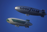 The Goodyear Blimp over Los Angeles Photographic Print