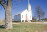 A Church Along the Missouri River in Augusta, Missouri Photographic Print