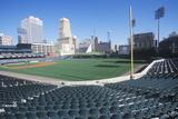 An Empty Baseball Stadium Photographic Print
