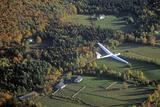 An Aerial Glider Flies over Warren, Vermont in Autumn Photographic Print