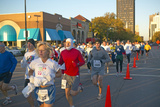 Marathon Runners in Columbus Ohio on a Sunny Sunday Morning Photographic Print