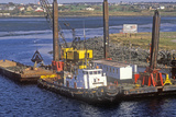 Dredging the Harbor in Nova Scotia Photographic Print