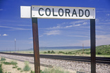 Welcome to Colorado Sign Photographic Print
