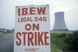 Strike Placard at Davis-Besse Nuclear Power Station, Oh Photographic Print
