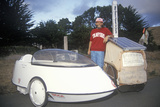 Human and Battery Hybrid Powered Vehicle, CA Photographic Print