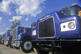 A Line Up of Mack Trucks Photographic Print