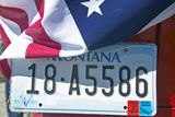 Vanity License Plate - Montana Photographic Print