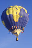 A Hot Air Balloon Designed to Look Like a Globe at the Albuquerque Balloon Fiesta in New Mexico Photographic Print
