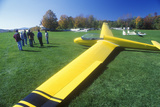 An Aerial Glider Parked on a Lawn in Warren, Vermont in Autumn Photographic Print