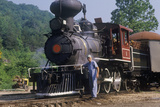 A Steam Engine at a Train Station in Eureka Springs, Arkansas Photographic Print