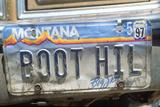 Vanity License Plate - Montana Photographic Print