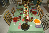 Table Setting for Thanksgiving Dinner, Ojai, California Photographic Print