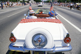 Antique Convertible in July 4th Parade, Pacific Palisades, California Photographic Print